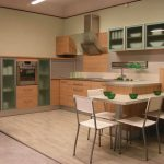 Кухня с бар-плот