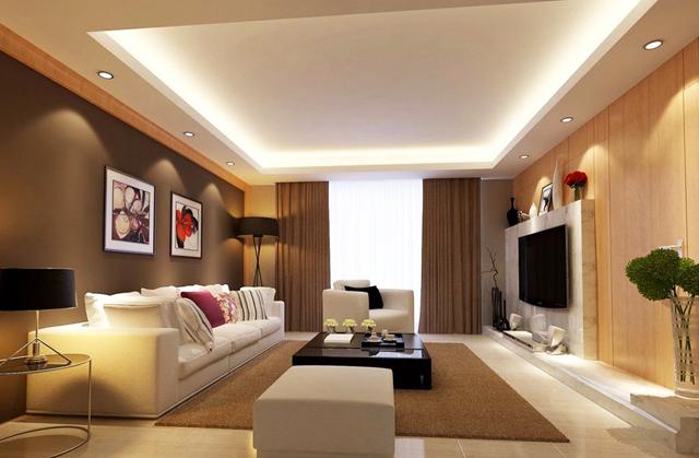 Дневна с тъмни стени и бели мебели
