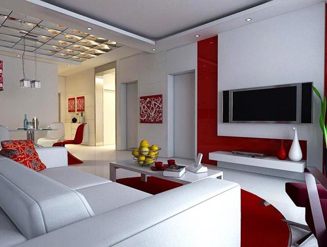 Комбинация бяло и червено