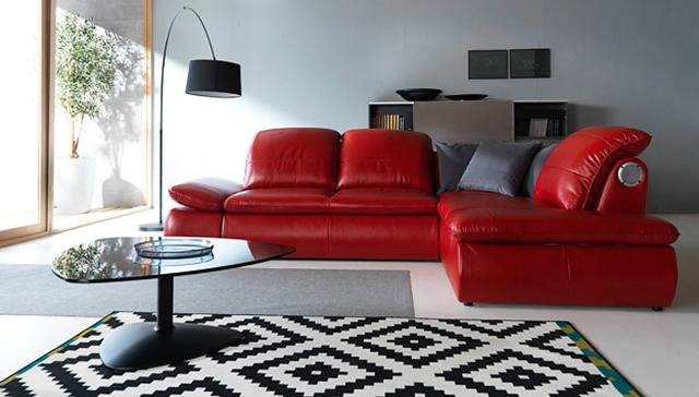 Червен диван