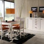 Кът за хранене с бели мебели