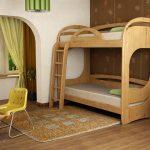 Стая с двуетажно легло