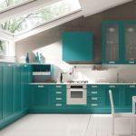Тюркоазено синя кухня