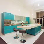 Кухня в тюркоазено синьо