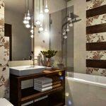 Идеи за бани в бежово-кафява тоналност