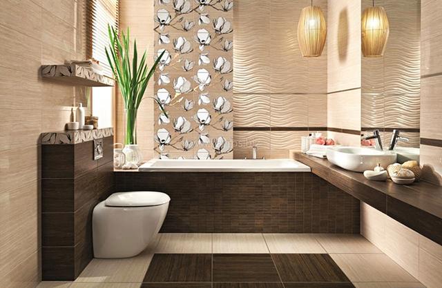 42 идеи за обзавеждане на бани в бежово-кафява тоналност