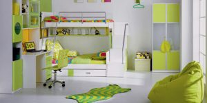 Детска стая със зелени акценти – универсалният избор!