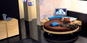 Кръглите спални – атрактивни острови за сън
