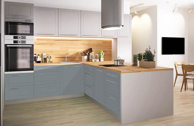 Г-образна кухня - максимално практична и удобна