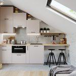 Барплот от дърво в кухнята