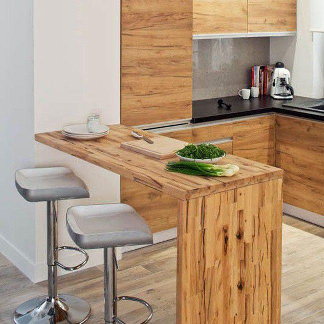 Кухненски барплот от дърво