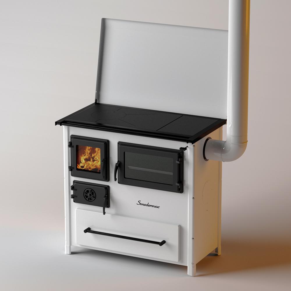Готварска печка на твърдо гориво с фурна
