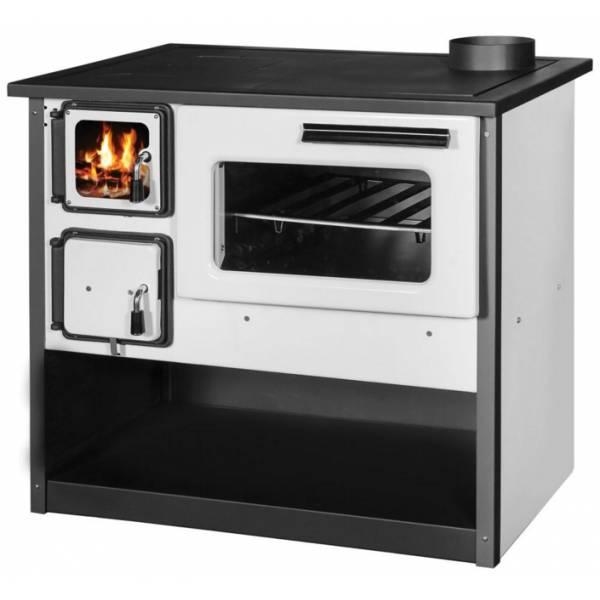 Готварска печка Огняна 9 kw - бял емайл