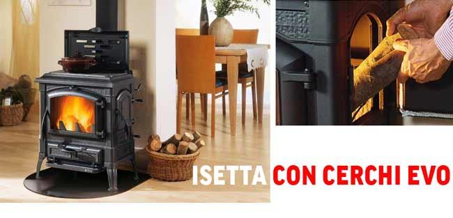 Чугунена печка на дърва - Isetta con cerchi Evo