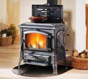 Чугунена печка на дърва от лят чугун