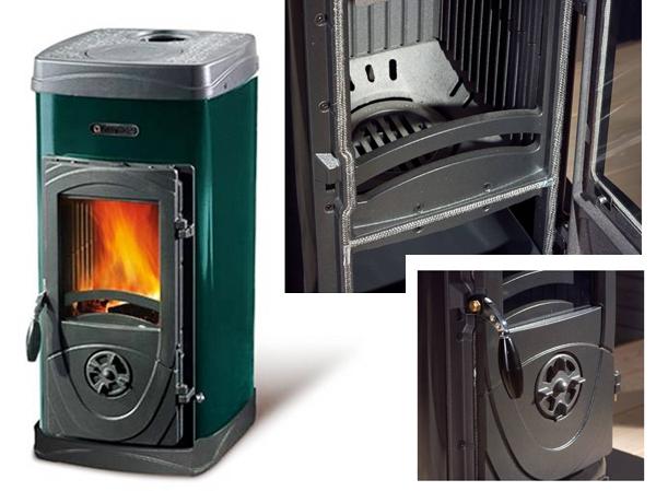 Печка на дърва - SUPER MAX - 6 кВт - Серия Bruciatutto