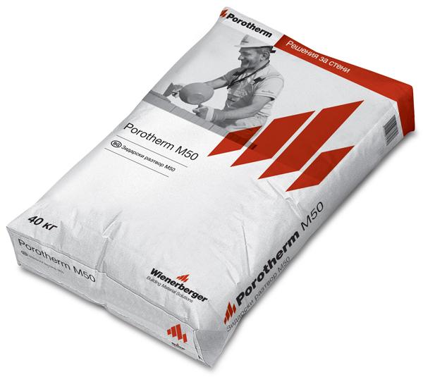 Porotherm М 50 – Универсален зидарски разтвор за гарантирани резултати