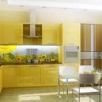 картини от принт-стъкло в кухнята