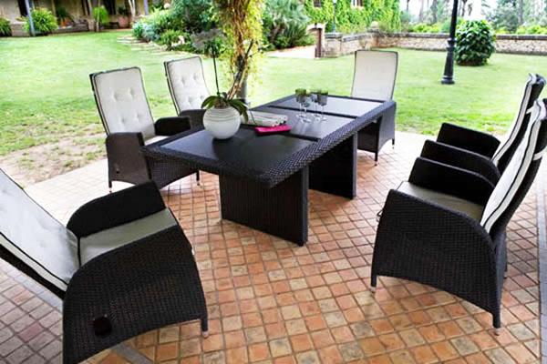 Комплект градински мебели от изкуствен ратан