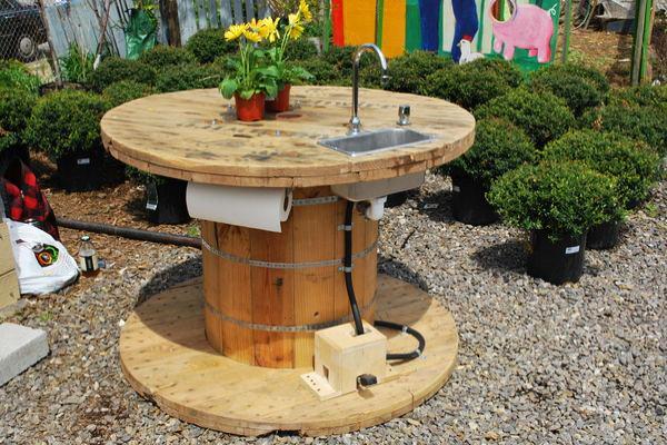 """24 идеи за """"направи си сам"""" нестандартна градинска мивка"""